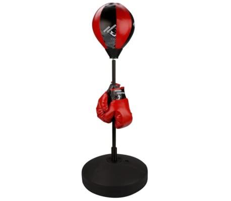 Avento conjunto juniores saco de boxe, preto/vermelho 41BE
