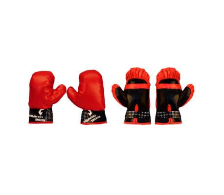 Altro Boxe Ed Arti Marziali Avento Junior Set Palla Da Box Nero/rosso Con Riflesso 41be Sport