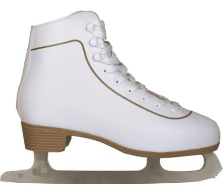 Nijdam Mot. dailiojo čiuožimo pačiūžos, klasik., dydis 43, 0043-WIT-43[1/3]