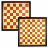 Abbey Game Checkers/Chess Board Board Wood Brown/Ecru 49CG