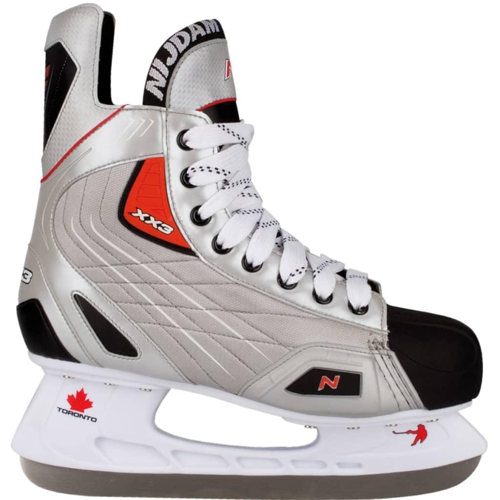 Nijdam Brusle na lední hokej, vel. 42, polyester, 3385-ZZR-42