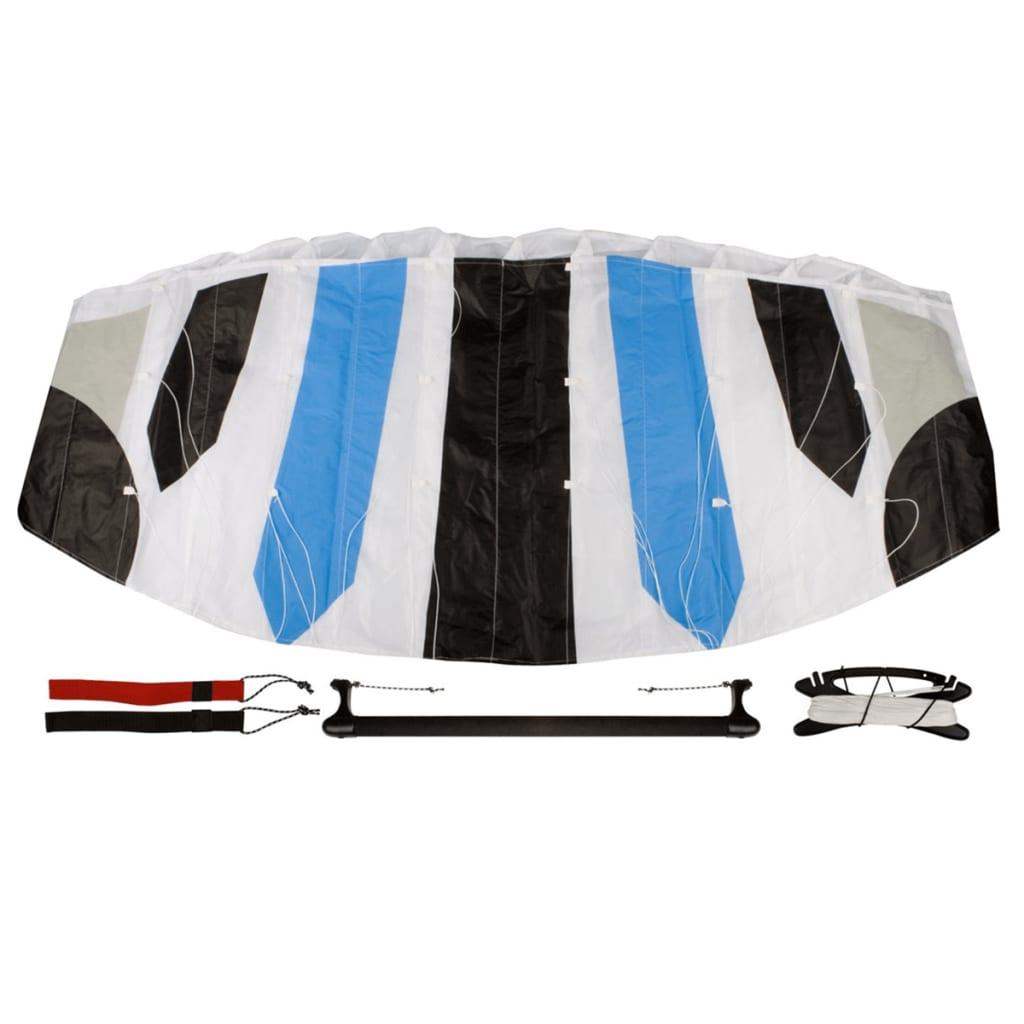 Afbeelding van Airow parachutevlieger Abstract 140 + stang wit/zwart/blauw/grijs 51VP