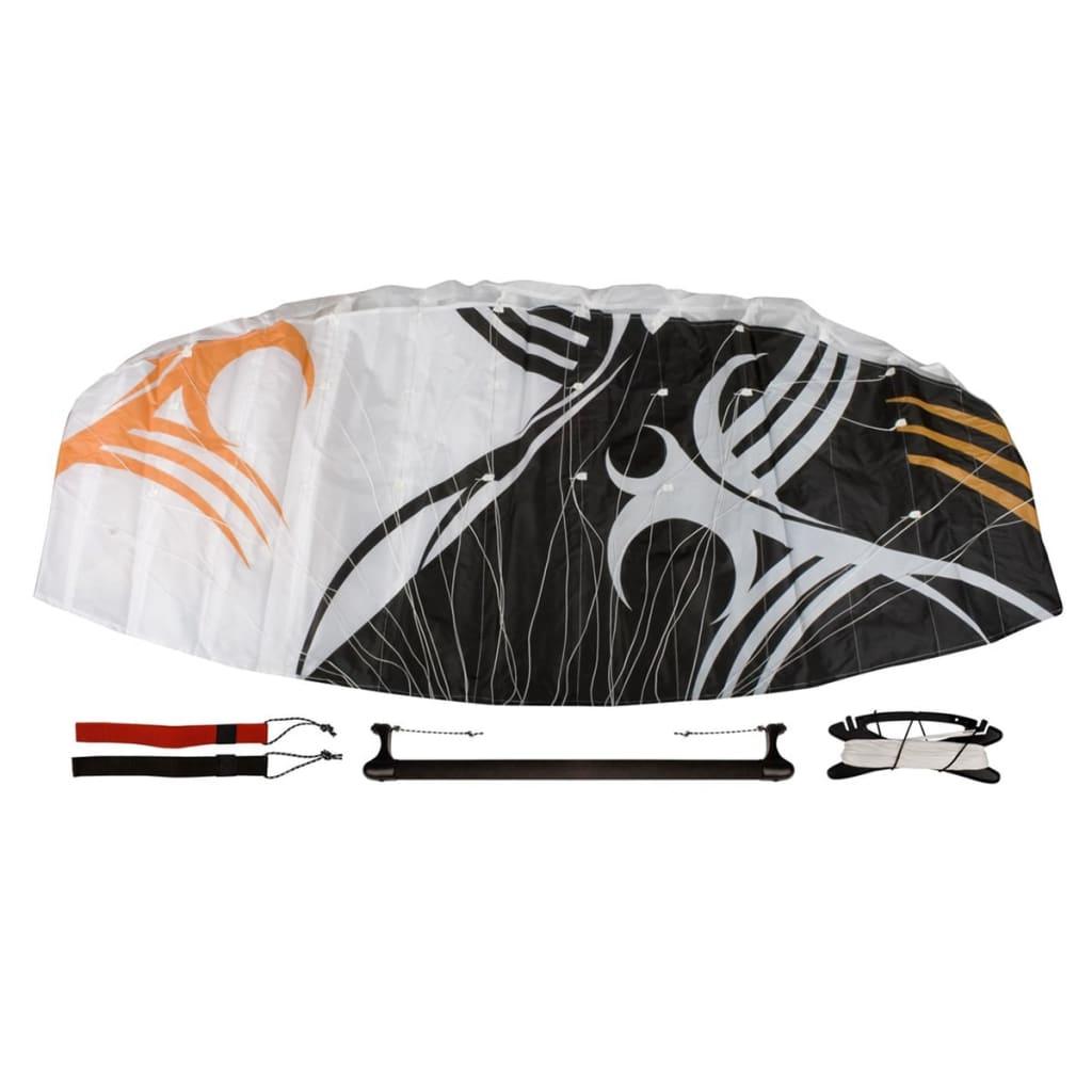 Afbeelding van Airow parachutevlieger Pacha 160 incl. stang zwart/wit/oranje 51VS