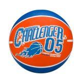 New Port Basketbal Met Print Maat 7 Oranje/Blauw/Wit