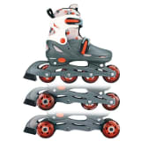 Nijdam Junior Inline Skates 27-30 Grey/Red/White 52QM