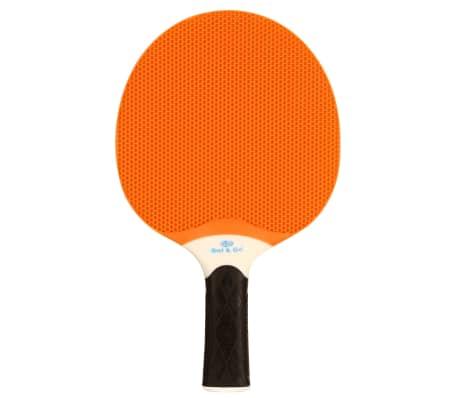 Get & Go Racchetta per Tennis da Tavolo da Esterni Arancione e Blu