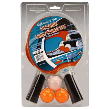 Get & Go Outdoor Tischtennis-Set Blau/Orange/Hellgrau 61UP[3/3]