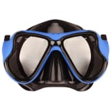 Waimea Senior Diving Mask Rubberized Pro Black/Cobalt Blue 88DL