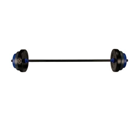 Set halteră Avento 41HB, 20 kg, negru/gri/albastru cobalt[1/3]