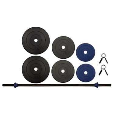 Set halteră Avento 41HB, 20 kg, negru/gri/albastru cobalt[2/3]