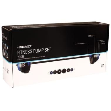 Set halteră Avento 41HB, 20 kg, negru/gri/albastru cobalt[3/3]