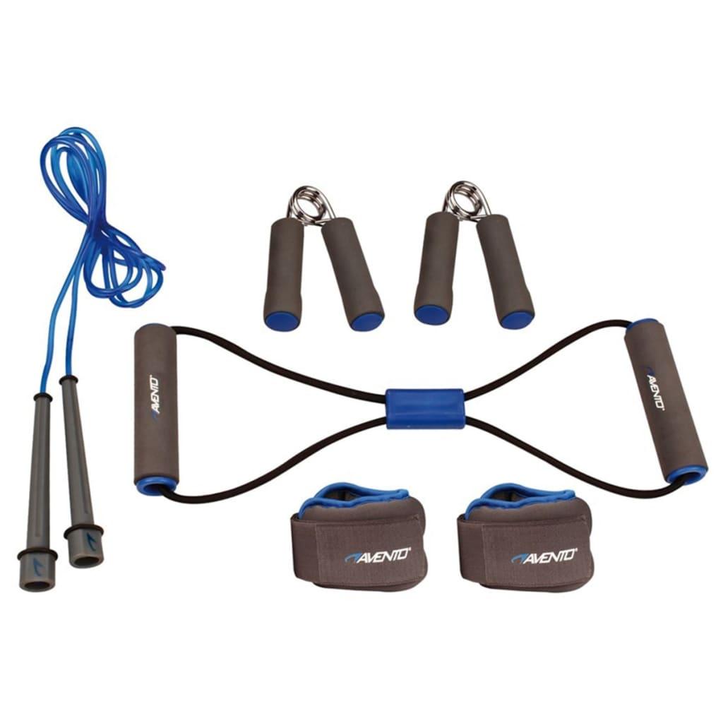 Avento Fitness sada šedá / kobaltově modrá / černá 41VE