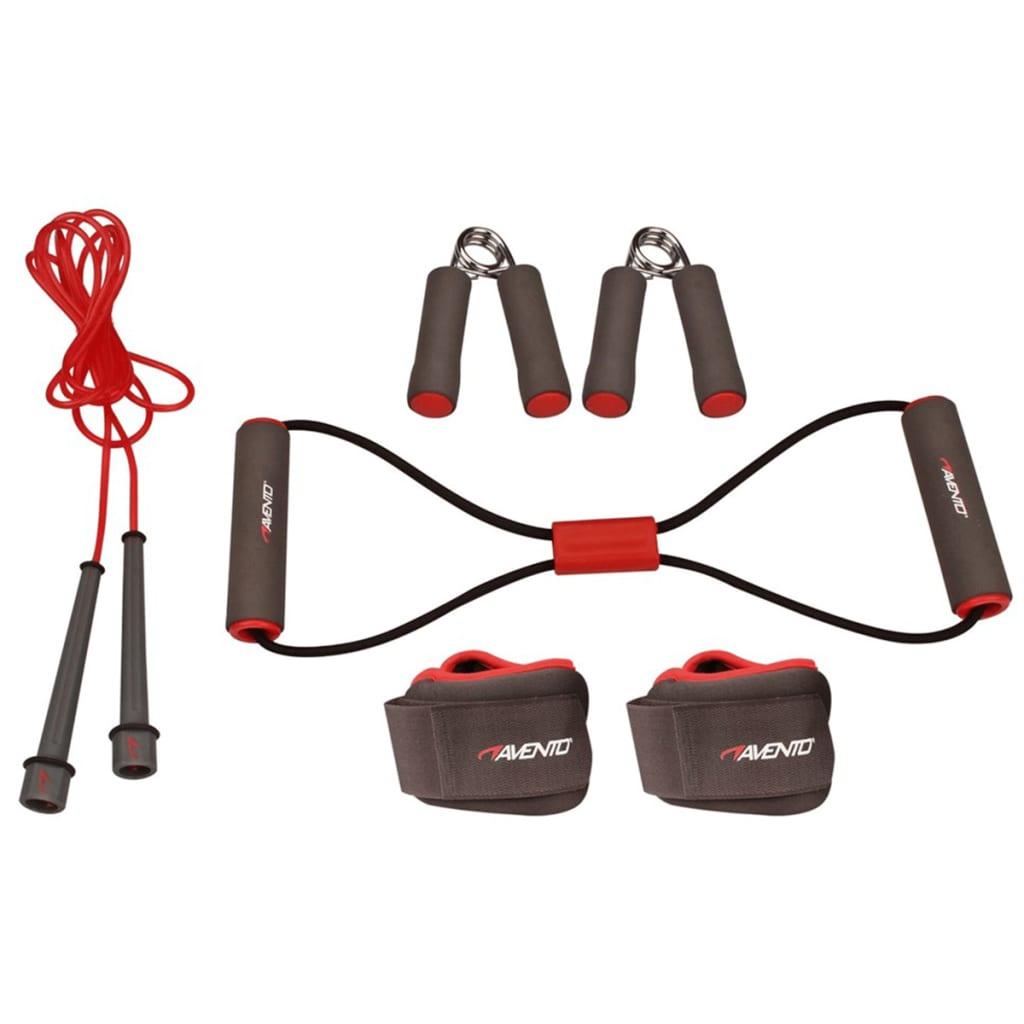 Avento Set pentru fitness, gri/roz/negru, 41VE vidaxl.ro