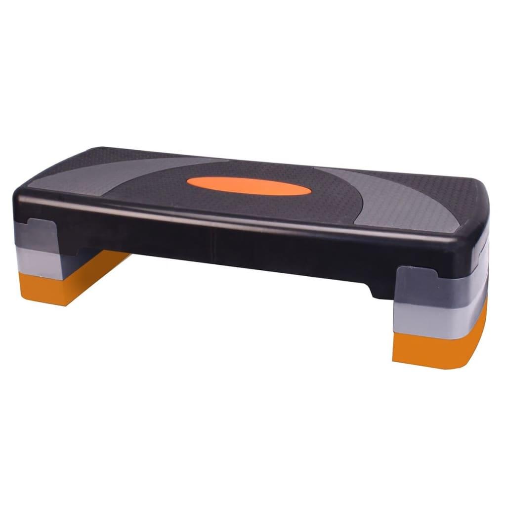 Step aerobic Avento large negru/portocaliu 41VT poza 2021 Avento