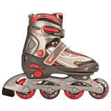 Nijdam junior inline-skates 30-33 antraciet/zilver/fuchsia 52SR