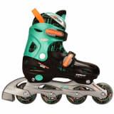 Rollers enfant Nijdam 52SB 27-30 noir/vert/orange fluo