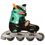 Nijdam junior inline-skates 38-41 zwart/groen/fluoriserend oranje 52SB