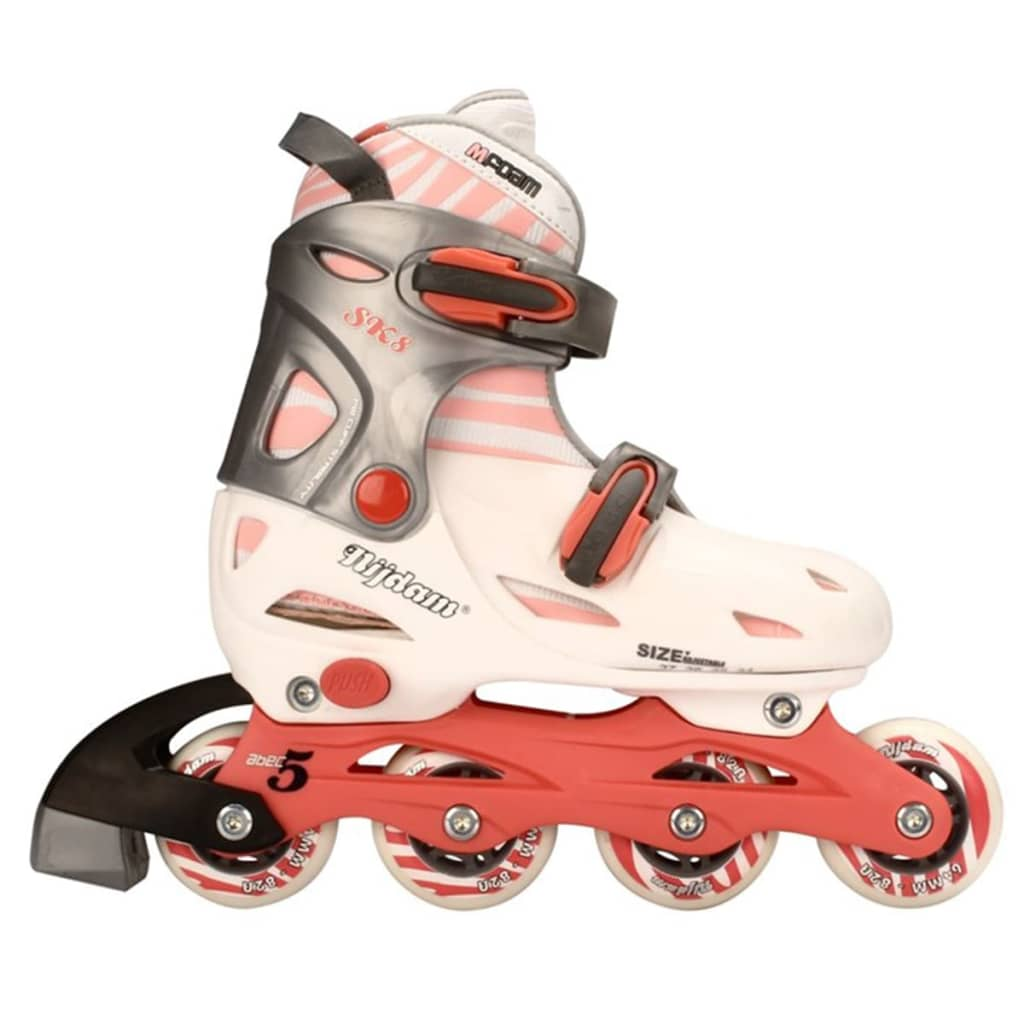Silver Pink Nijdam Kids Inline Girls 3 in 1 Adjustable