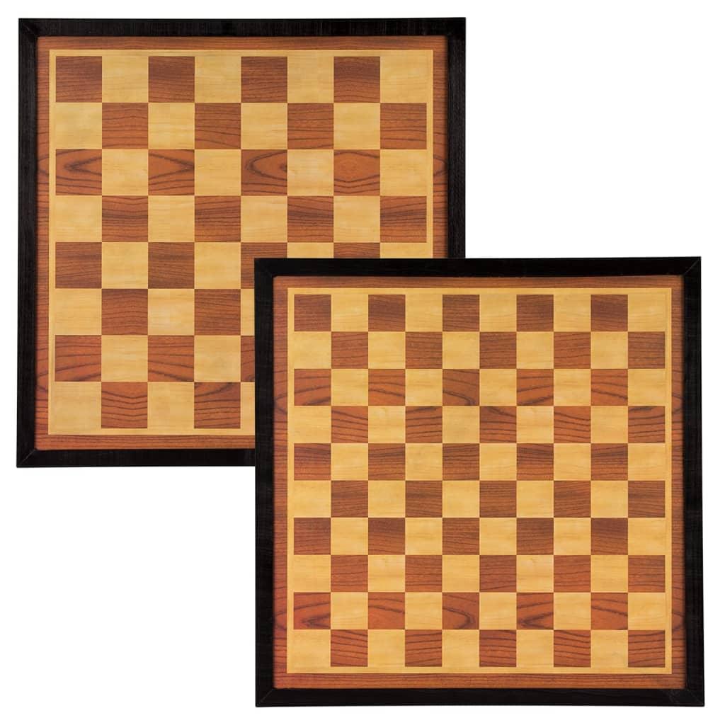 Abbey Game Tablă joc de șah și table, maro și bej, 41 x 41 cm, lemn poza 2021 Abbey Game