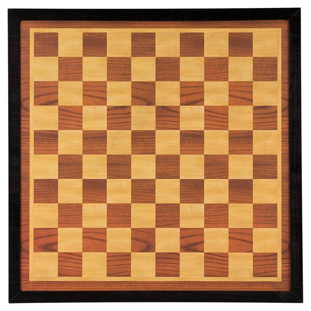 Abbey Game Dam en schaakbord 41x41 cm hout bruin en beige