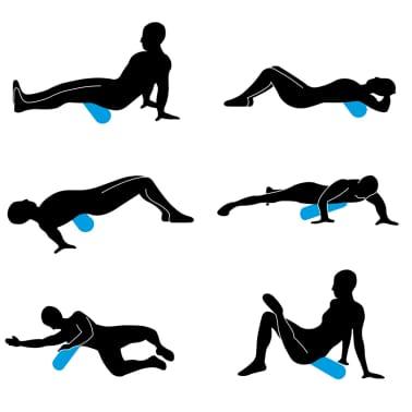 Avento Rouleau en mousse pour yoga 41WF-ANT-Uni 14,5 cm Anthracite[2/4]