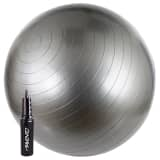 Avento Fitnessball mit Pumpe 65 cm Silbern 41VV-ZIL