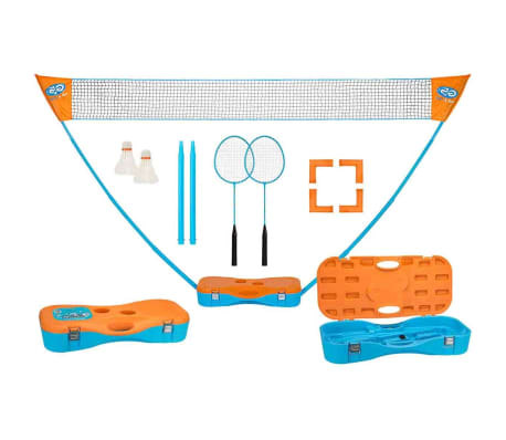 Get & Go komplet za igranje badmintona modre in oranžne barve 65KA[1/10]