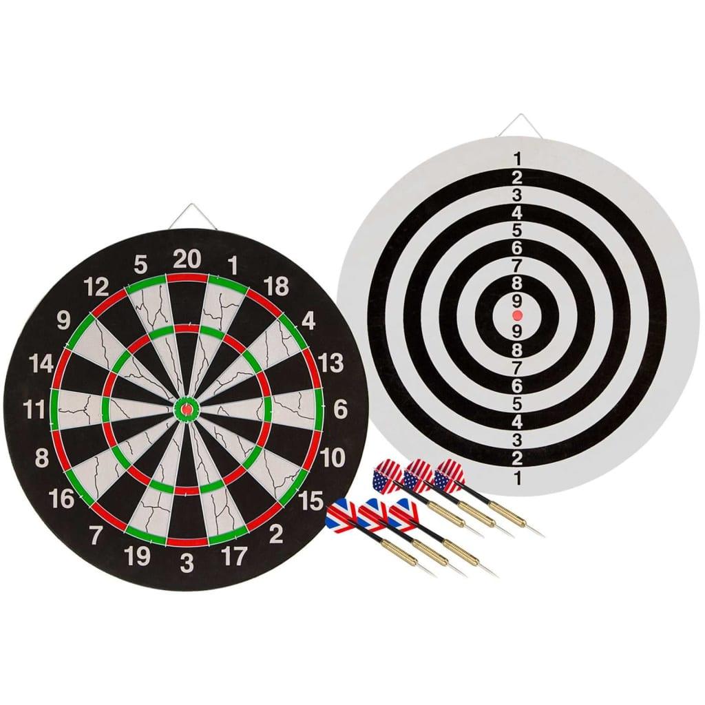Afbeelding van Abbey Darts Dartbord dubbelzijdig met 2 dartsets 52AZ-UNI-Uni