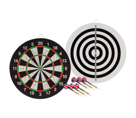Abbey Darts Cible avec double face incluant 2 fléchettes 52AZ-UNI-Uni