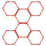 Avento Koordinationsgitter 6 Stk. Hexagon