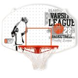 New Port basketbalring met bord 90 X 60 X 1,5 cm wit/oranje