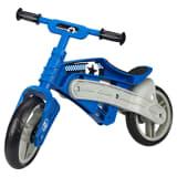 Nijdam Bicicleta de equilibrio sin pedales ajustable N Rider azul gris