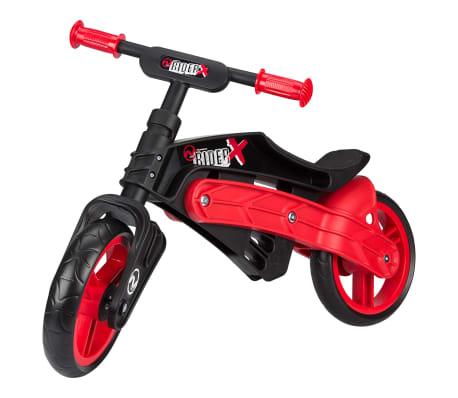 Nijdam Bicicleta equilibrio sin pedales ajustable N Rider negra y roja[1/7]