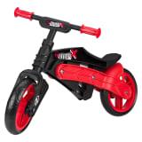 Nijdam Bicicleta equilibrio sin pedales ajustable N Rider negra y roja