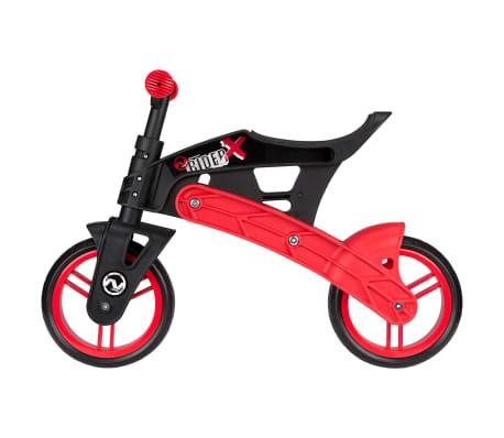 Nijdam Bicicleta equilibrio sin pedales ajustable N Rider negra y roja[4/7]
