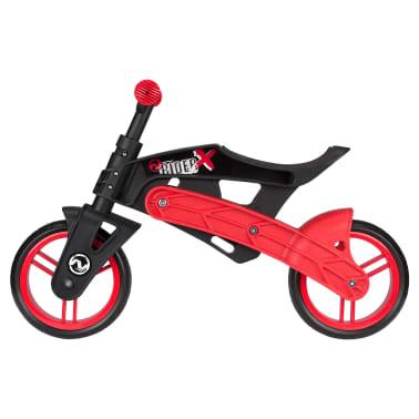 Nijdam Bicicleta equilibrio sin pedales ajustable N Rider negra y roja[3/7]