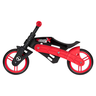 Nijdam Bicicleta equilibrio sin pedales ajustable N Rider negra y roja[5/7]