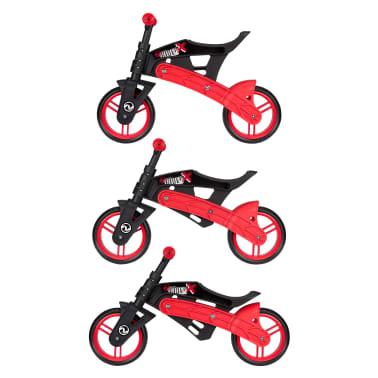 Nijdam Bicicleta equilibrio sin pedales ajustable N Rider negra y roja[6/7]