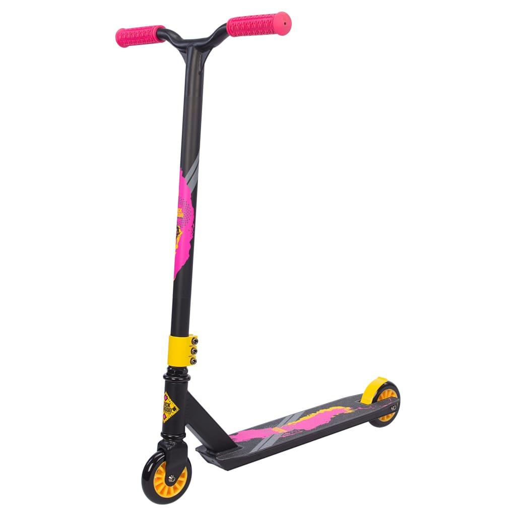 Afbeelding van Black Dragon Stunt Scooter - Vert Racer - Antraciet/Geel/Roze