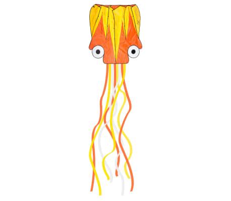 Dragon Fly Cerf-volant pieuvre 124x127 cm Orange et jaune