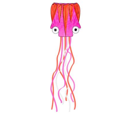 Dragon Fly Cometa en forma de pulpo rosa y naranja 124x127 cm
