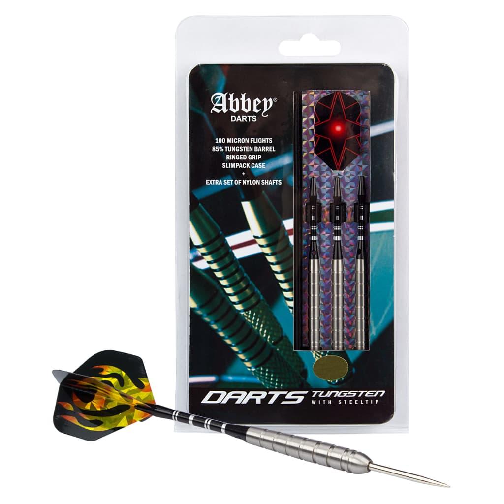 Afbeelding van Abbey Darts dartpijlenset steeltip 85% tungsten zilver 26 gram