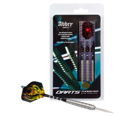Abbey Darts Set de fléchettes 3 pcs 85 % Tungsten 26 g Argenté