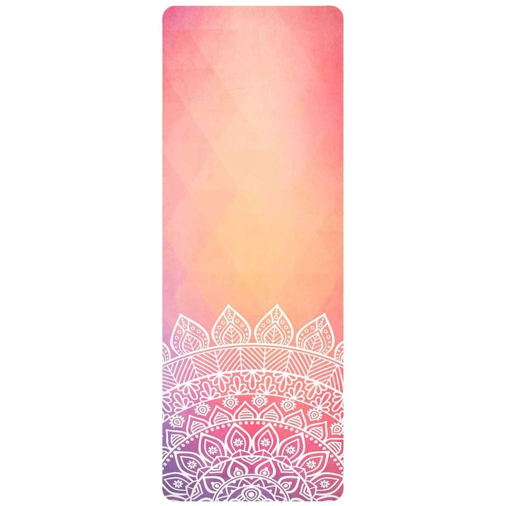 Avento Saltea yoga, piele întoarsă microfibră, cu imprimeu portocaliu poza 2021 Avento