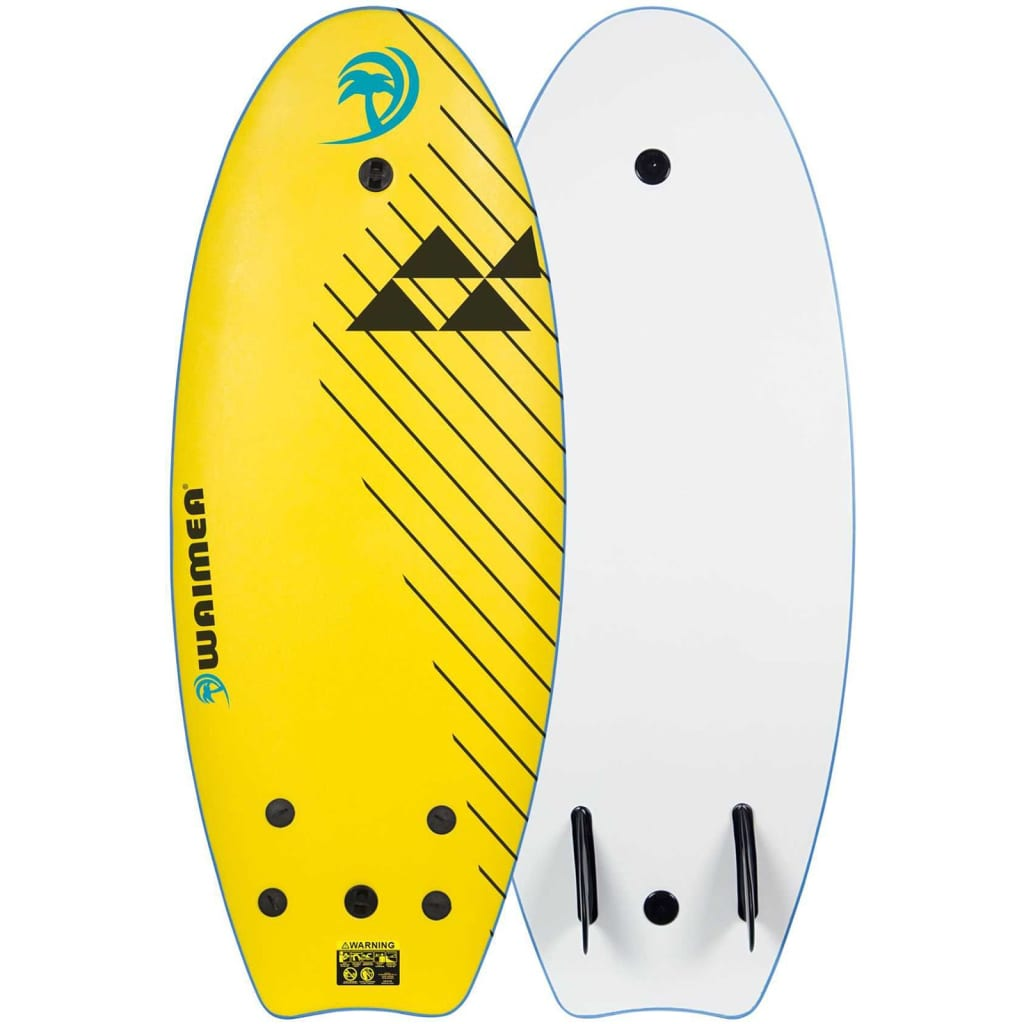Waimea Placă de surf EPS 114 cm galben 52WZ-GLB-Uni imagine vidaxl.ro