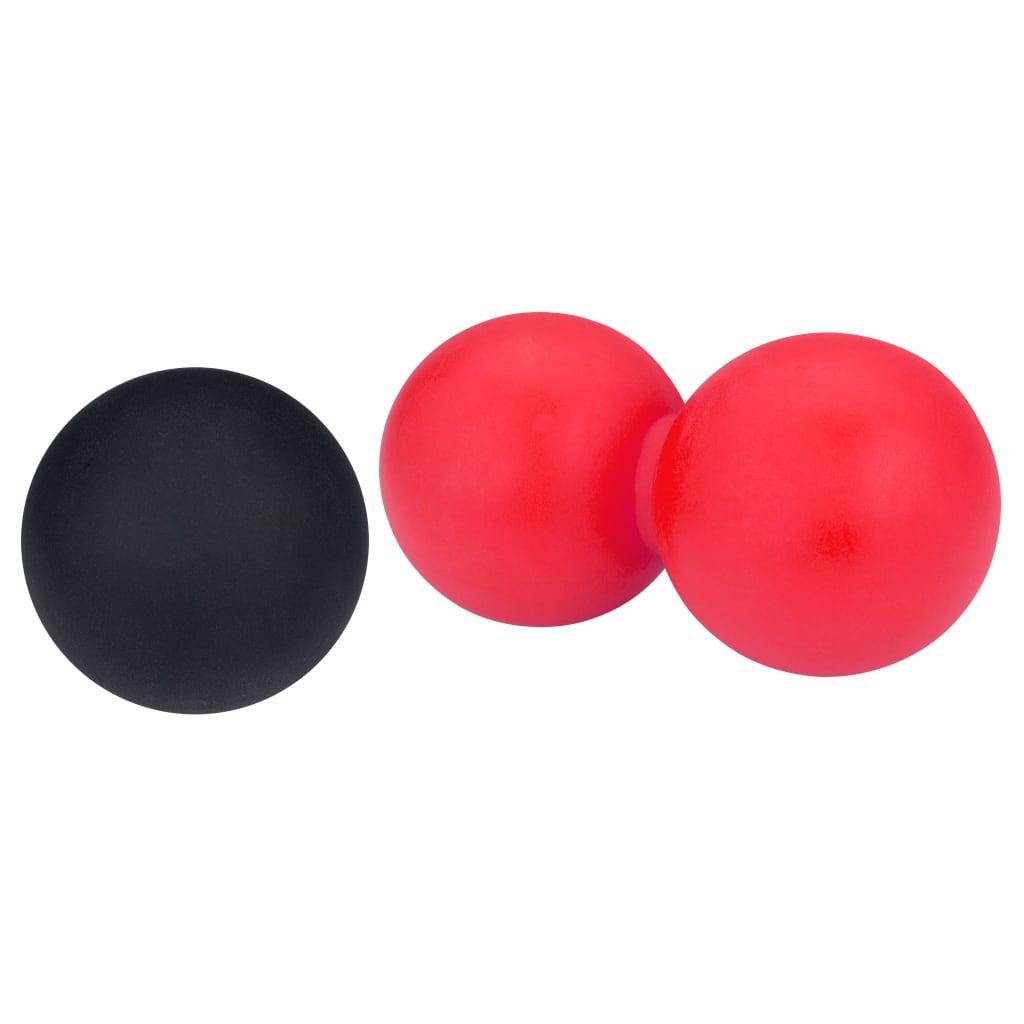 Avento massageballen set 6,2 cm rood/zwart