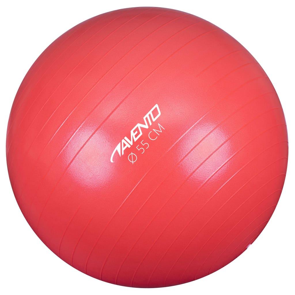 Avento Fitness/gymnastický míč průměr 55 cm růžový