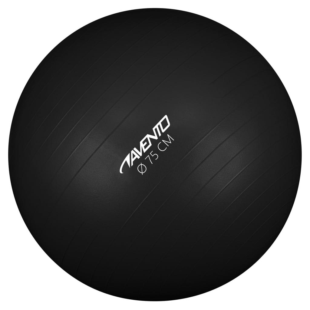 Avento Fitness/gymnastický míč průměr 75 cm černý