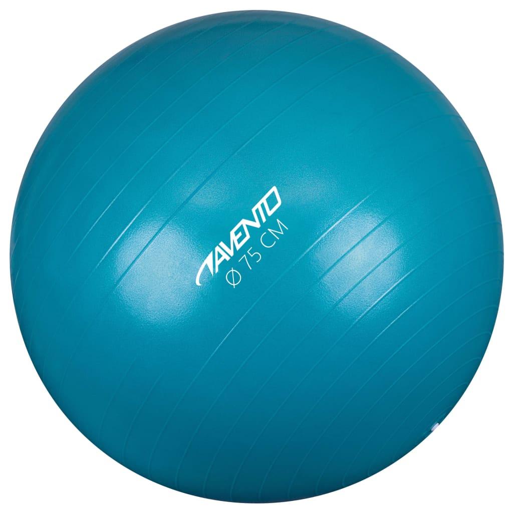 Avento Minge de fitness/gimnastică, albastru, diam. 75 cm poza 2021 Avento