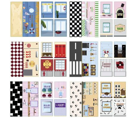 iWALLZ 6-teiliges Sticker-Set 22 x 10,5 cm i8022[2/8]